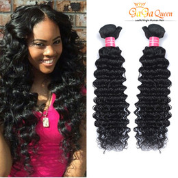 Wholesale Cheap Brazilian Online - Factory Selling Cheap Hair Virgin Brazilian Deep Wave Bundles 4pcs lot 100g pcs 100% Curly Virgin Hair Brazilian Hair Weave Online