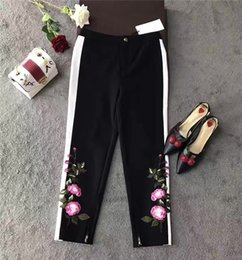 Wholesale Loose Cotton Pants For Women - Fashion Women pants Black Straight Loose Pants for Women 2017 New Arrival Runway Brand Capris Summer Runway