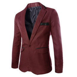 Wholesale Designer Blazers For Men - Wholesale- New 2016 Blazer Men Designer Office Social Terno Masculino 3XL Suit Casaco Masculino Wedding Dresses Suits For Men Ternos H02