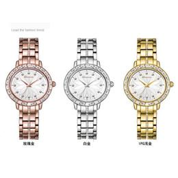 Wholesale Petal Watch - 2017The latest version Fashion trends watch petals diamond Steel belt table luxury lady Wrist watch 30 meters of life waterproof