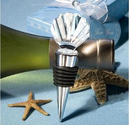 Cristal bleu pour décorations de mariage en Ligne-bouchon de bouteille de vin de coquille de cristal de mariage avec l'outil de vin de boîte de ciel bleu pour le cadeau de fête de décoration de mariage