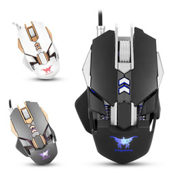 Wholesale Wire Weight - Combatwing CW30 Wired Gaming Mouse Mice 7 Buttons 3200DPI 1000Hz Return Rate Weight Tuning 4 Color Breathing LED Light