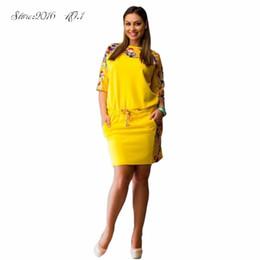 Wholesale Cozy Summer Dress - Wholesale- Hot Cozy Women Lady Dress Floral Half Sleeve Evening Party Plus Size Dress L-6XL Vestidos