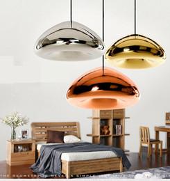 Wholesale Tom Dixon Copper Pendant Light - Tom Dixon Void Pendant Lamp Void Light Silver Copper Gold Void Pendant Lamp Ceiling Light Fashion Chandelier Lamps