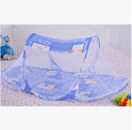Wholesale Mattress Cribs - Wholesale-Portable Baby Bed Crib Folding Mosquito Net Infant Cushion Mattress Pillow PTSP y e w z-1
