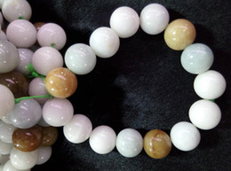 Pulsera de jade redonda de jade natural de color amarillo F133 desde fabricantes
