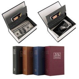 Wholesale Dictionary Safe Box - Stealth Simulation English Dictionary Book Safe Small Mini Lock Box Storage Box Free Shipping