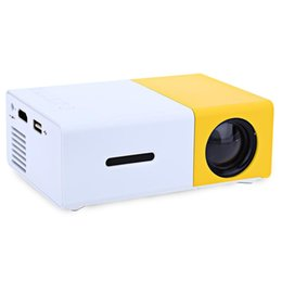 Wholesale Best Portable Led Projector - Newest Original YG-300 LCD Projector Mini Portable 400 - 600LM LED lamp 320 x 240 Pixels Media Player Best for Home Projector free shipping