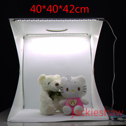 Wholesale Photo Tent Box - 40CM Photo Studio Flash Diffusers Portable Mini Photography Kit Light Box Softbox Photographic with Backdrops photo light tent