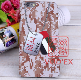 Wholesale Wholesale Uae - Vodex UAE Army tag necklace Apple water paste mobile phone shell relief 3D feel iPhone7 plus cases