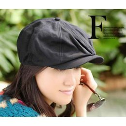 Wholesale Newsboy Caps Womens Wholesale - Wholesale-Mens Womens Vintage Beret Cap Cabbie Newsboy Flat Peaked Hat Gatsby Driver H808
