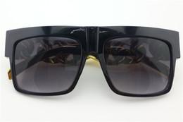 Wholesale Oversized Chain - 2017 Kim kardashian Beyonce Celebrities Plastic Gold Chain Oversized Shades Sunglasses Men  Women Brand Sun glasses Eyewear