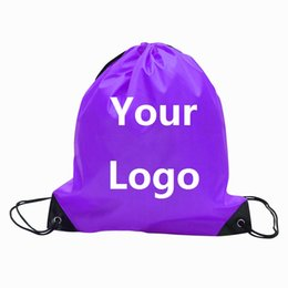 Wholesale Totes Folding Shopping Bag - Customize Drawstring Tote bags Logo print Advertising Backpack folding bags Marketing Promotion Gift shopping bags Screenprinting