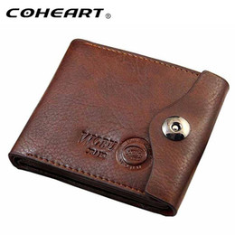 Wholesale Leather Money Bags For Men - Men Hasp Wallet Leather Purse Trifold Wallets For Man High Quality Big Capacity Credit Crad Holders Money Bag Cheap