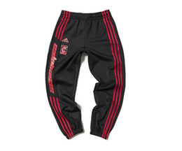 Wholesale New Hip Hop Pants - Season 4 calabasas Joggers Men Kanye West Hip Hop Pants Casual Trousers 2017 new Sweatpants season 4 cuffed pants Striped