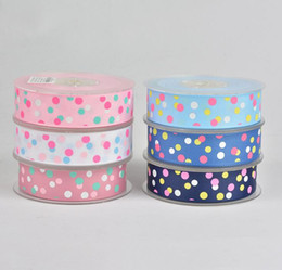 Wholesale Very Sexy Wedding - DIY decoration ribbons 25mm wide and 100 yards per roll Printing color with dots Very good quality free shipping WT059