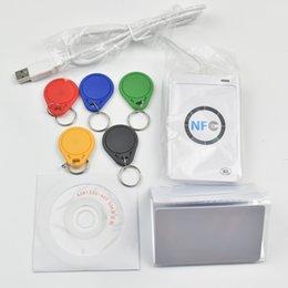 Wholesale Card Writer Software - USB ACR122U NFC RFID Smart Card Reader Writer + 5 pcs UID Cards +5pcs UID Tags+ SDK + M-ifare Copy Clone Software