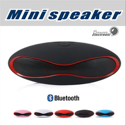 Wholesale button sound mp3 - X6 Mini Wireless Bluetooth Speakers which shape in Rugby Handsfree Portable MP3 Player Subwoofer Stereo Sound Speaker