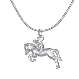 Wholesale Mother Pearl For Sale - Hot Sale Silver Plated Horse Necklace Best for Cowgirl Teen Girls Equestrian Birthday Gift