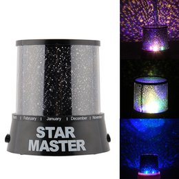 Wholesale Magic Star Light - Wholesale- Romantic Magic 4 LED Sky Star Starry Sky Projector Night Light Lamp Nursery Home Display Bedroom Toy Gift for children