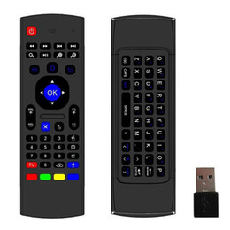 Wholesale Wireless Keyboard Ir Remote Control - 10pcs X8 Air Fly Mouse MX3 2.4GHz Wireless Keyboard Remote Control Somatosensory IR Learning 6 Axis without Mic for Android TV Box