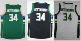 Wholesale Youth Basketball Jerseys - youth #34 giannis antetokounmpo white black green 2017 Basketball Jerseys 100% Stitched Mix Order