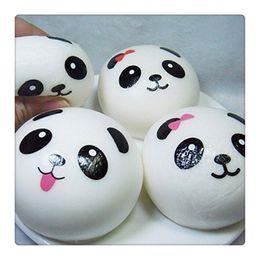 Wholesale Panda Keychains - Cute Squishy Slow Rising Panda Squishies Jumbo Panda Squishies Buns Squishy Panda Bread Keychains Squishy Toy Free Shipping