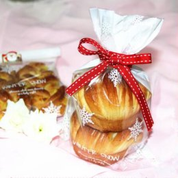 Wholesale Clear Top Gift Boxes Wholesale - Christmas Plastic Cookie Bag Gift Packaging for Cookie Candy OPP Bags Bakery Decoration Packaging Clear Top Open Snow Flake