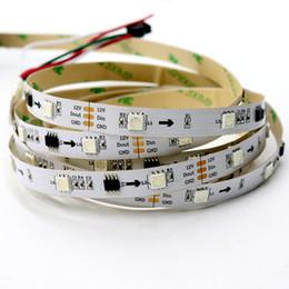 адресная 5M 30LEDs / m WS2811 светодиодная лента 12v цифровая светодиодная лента RGB 5050 SMD гибкая белая печатная плата не водонепроницаемый IP20 полный RGB лампа пиксель свет cheap led lamp pcb rgb от Поставщики светодиодная лампа pcb rgb