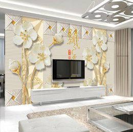 Wholesale Peach Flower Wallpaper - Adhesive backed wallpaper for walls 3d large new Chinese style peach flower relief stereo background vinyl mural for living room