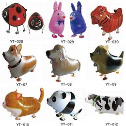 Wholesale Birthday Party Supplies Themes - Animal Air Balloons Theme Birthday Party Supplies Animal Foil Balloon Walking Helium Foil Balloons 58*41cm C162Q