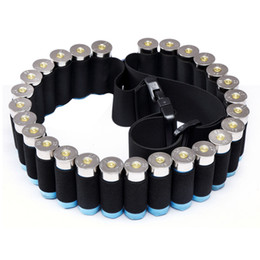 Wholesale Shotgun Belt - 29 Rounds Ammo Holder Shells Belt Shotgun Cartridges Carrier Adjustable Waist Shouler Belt for Shooting Hunting Bandoleer