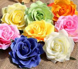 Wholesale Blue Wedding Flip Flops - DIY Artificial Rose Flower Head Silk Flower For Wedding Corsage Flip-Flops Headdress Bouquet Accessories 11.5cm G628