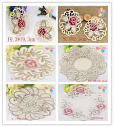 Wholesale Options Pads - Wholesale- SALE!1piece 2pcs Multi size option Elegant Hollow Out Embroidery Placemat Lace Table Mats Pads 078007034