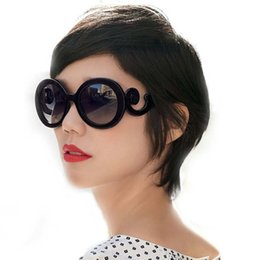 Wholesale Spectacle Frames Lady - For Ladies Personality Round Oversize Sunglasses Spindrift Leg Aviator Glasses Women Sun Glasses Big Frame Spectacle