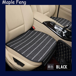 Wholesale Luxury Cover Seats - Super luxury linen Car Seat Protector Mat Auto Front Seat Cushion Single Fit Most Vehicles Seat Covers For All Sedan,2pcs set
