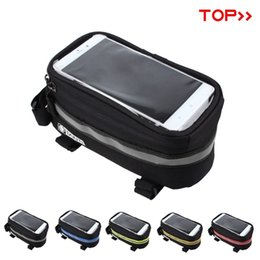 """Wholesale Mtb Frame Bag Pannier - New panniers Frame Front Tube Bag For Cell Phone MTB Bike Touch Screen Bag For iphone 6 Plus 4.8"""" 5.7""""Cycling Bike Bicycle bags"""
