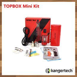 Wholesale Ecigarette Starter - 1pc Original Kanger Topbox Mini Starter Kit 75W TC ecigarette 4ml tank vaporizer electronic cigarettes with kbox box mod 510 thread atomizer