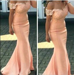 Wholesale Olive Types - The new 2017 ms applique lace bridesmaid dresses sweetheart neckline sleeveless mop the floor fishtail skirt type group