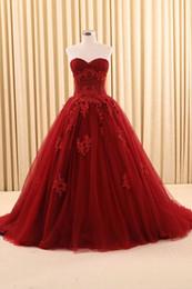 2019 prinzessin stil kristalle schatz Vintage Gothic Dark Red Ballkleid Brautkleider Mit Farbe Lange Schatz Korsett Bunte Nicht Weiß Brautkleider Echte Robe De Mariee