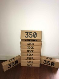 Wholesale Wholesale Volleyball - Boost 350 V2 Sock Lows Men Socks Kanye West One Box 4 Colors Short Ankle Athletic Sport Running Sock SPLY - 350 Men Women Sock With 350 Box