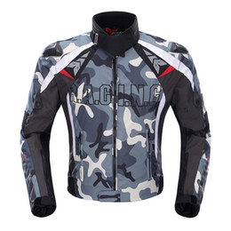 Wholesale Motorcycle Jackets Oxford - DUHAN Men's Oxford Cloth Motorcycle Jacket Windproof Motocross Off-Road Racing Jacket Guards Clothing With Five Protector Guards