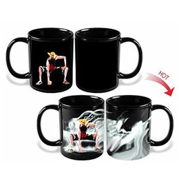 Wholesale Personality Pieces - One Piece Luffy Mug Color Change Magic Durable Cups Coffee Drinkware Thermochromic Novelty Mugs Monkey D Luffy Kids Gifts 11 5yo