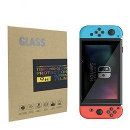 Wholesale Rubber Glass Screen - For Nintendo Switch Console Screen Protector Film Tempered Glass Silicone Soft Rubber Dust Proof Plug Kits With Retail Package Box