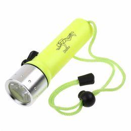 2019 sottile cob led Torcia subacquea LED Lanterna 800 Lumens Q5 LED Torcia subacquea impermeabile Luce Linternas ha condotto la torcia elettrica per Diver