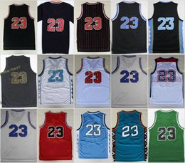 Wholesale Black Blue Star - Retro 23 Space Jam Basketball Jerseys Throwback College North Carolina LOONEY TOONES Squad Team Dream 96 98 All Star TUNESQUAD With Name