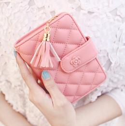 Wholesale Best Handbag Brands For Women - Wholesale- 2017 Brand Designer Women Wallet Bags Best Leather Plaid Zipper Tassel Clutch Purse Lady Short Handbag Bag 7 Colors For Woman
