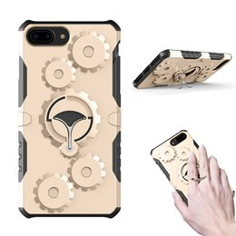 Wholesale Iphone Gear Case - Mechanical Gears Phone Case Stand Holder Armor Cover For IPhone 7 6s 6 plus Samsung S8 plus J5 J7 2017 PRIME