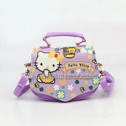 1dbb6c231167 Wholesale- 2016 New Brand Children baby girls cute hello kitty handbag Kids  Cartoon Handbag Dsigns shoulder bags princess message bag discount hello  kitty ...