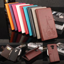 Wholesale Asus Model - Folio Wallet PU Leather Protective Flip Stand Cards Slots Case with Tower Embossing Process for ASUS Zenfone3 Max ZC553KL More Models option